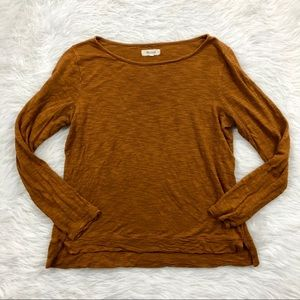 Madewell Brown Lon Sleeve Knit
